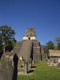 Grand Plaza at the Mayan Archaeological Site of Tikal, Guatemala, Central America Photographic Print by Traverso Doug