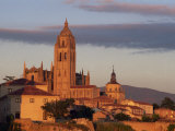 Cathedral from the West at Sunset at Segovia, Castilla Y Leon, Spain, Europe Photographic Print by Tomlinson Ruth