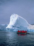 Tourists Exploring Icebergs by Dinghy, Antarctica, Polar Regions Photographic Print by Renner Geoff