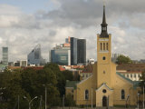 St. Johns Church and New City, Tallinn, Estonia, Baltic States, Europe Photographic Print by Richardson Rolf
