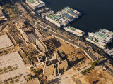 Aerial View of Luxor Temple and the River Nile, Luxor, Thebes, UNESCO World Heritage Site, Egypt Photographic Print by Schlenker Jochen