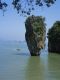 Limestone Stack on Ko Tapu, Phang Nga Bay, Thailand, Southeast Asia Photographic Print by Richardson Rolf