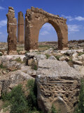 Tower and Arch of the Temple of Sin, the God of the Moon, Harran, Anatolia, Turkey Photographic Print by Woolfitt Adam