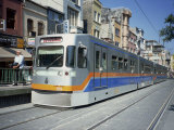 Modern Tram in Sultanahmet Area of Istanbul, Turkey, Europe Photographic Print by Rennie Christopher