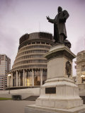 Statue of Seddon, Outside Beehive and Parliament House, Wellington, North Island, New Zealand Photographic Print by Smith Don