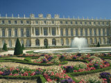 Le Parterre Du Midi and Fountain in Front of the Chateau of Versailles, Ile De France, France Photographic Print by Richardson Rolf