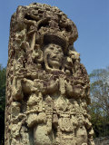 Carved Staela B, Dating from the 8th Century AD, Mayan Site of Copan, Honduras, Central America Photographic Print by Rennie Christopher