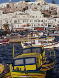 Fishing Boats in the Harbour, Naxos, Cyclades Islands, Greek Islands, Greece Photographic Print by Thouvenin Guy