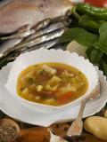 Caldo De Pescado Soup, Food of the Canary Islands, Spain, Europe Photographic Print by Tondini Nico
