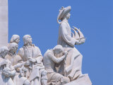 Close-Up of Statues on the Monument to the Discoveries at Belem, Lisbon, Portugal, Europe Photographic Print by Scholey Peter