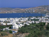 White Church and Houses Overlooking a Bay on Paros, Cyclades Islands, Greek Islands, Greece, Europe Photographic Print by Tovy Adina