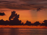 Tropical Sunset Off Seven Mile Beach, Cayman Islands, West Indies, Central America Photographic Print by Tomlinson Ruth