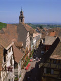Old 16th and 17th Century Houses of Wine-Growers, Riquewihr, Alsace, France, Europe Photographic Print by Rawlings Walter