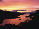 Queen's View at Dusk, Pitlochry, Tayside, Scotland, United Kingdom, Europe Photographic Print by Rainford Roy