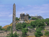 Calton Hill Monuments, Calton Hill, Edinburgh, Lothian, Scotland, United Kingdom, Europe Photographic Print by Thouvenin Guy