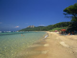 View Along the Plage Notre Dame, Ile De Porquerolles, Var, Cote D&#39;Azur, Provence, France Photographic Print by Tomlinson Ruth