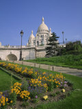 Sacre Coeur, Montmartre, Paris, France, Europe Photographic Print by Rainford Roy
