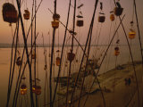 Akash Deep Festival Beside the Ganges River, Varanasi, Uttar Pradesh State, India Photographic Print by Wilson John Henry Claude