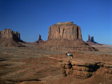 Woman on Horseback in the Desert, Monument Valley, Arizona, USA Photographic Print by Tovy Adina