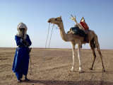 Tuareg Tribesman and Camel, Niger, Africa Fotografisk tryk af Rawlings Walter