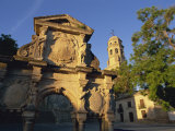 16th Century Ornamental Fountain in the Plaza Santa Maria at Sunrise, Baeza, Jaen, Andalucia, Spain Photographic Print by Tomlinson Ruth
