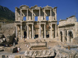 Celsus Library, Ephesus, Anatolia, Turkey Minor Photographic Print by Short Michael