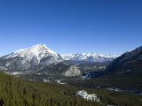 Banff and the Bow Valley Surrounded by Rocky Mountains, Banff National Park, Alberta, Canada Photographic Print by DeFreitas Michael