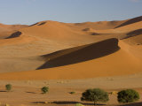 Sand Dunes, Sossusvlei, Namib Naukluft Park, Namib Desert, Namibia, Africa Photographic Print by Milse Thorsten