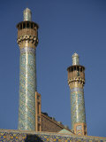 Minarets of the Emam Mosque, Isfahan, Iran, Middle East Photographic Print by Poole David