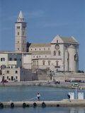 12th Century Cathedral of San Nicola Pellegrino Overlooking the Sea, Trani, Puglia, Italy Photographic Print by Terry Sheila