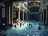 People Bathing in the Hotel Gellert Baths, Budapest, Hungary, Europe Photographic Print by Woolfitt Adam