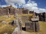Walls and Inca Fortress Site at Sacsahuaman, Cuzco, Peru, South America Photographic Print by Rawlings Walter