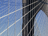 Detail of the Brooklyn Bridge, New York City, United States of America, North America Photographic Print by Woolfitt Adam