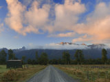 Southern Alps and Farmland, Westland, South Island, New Zealand, Pacific Photographic Print by Schlenker Jochen