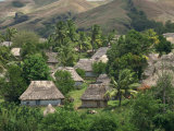 Traditional Bures, Last Old Style Village, Navala, Viti Levu Island, Fiji, Pacific Photographic Print by Waltham Tony