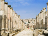 Cardo, North Colonnaded Street, Jerash a Roman Decapolis City, Jordan, Middle East Photographic Print by Tondini Nico