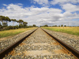 Railway Tracks, Victoria, Australia, Pacific Photographic Print by Schlenker Jochen
