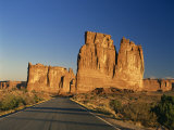 Road Leading to Tall Rock Formations in the Desert in Utah, United States of America, North America Photographic Print by Tovy Adina