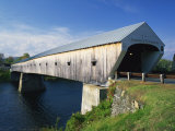 Cornish-Windsor Bridge, the Longest Covered Bridge in the Usa, Vermont, New England, USA Photographic Print by Rainford Roy