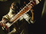Sitar Player, India Photographic Print by Wilson John Henry Claude