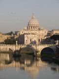 St. Peters Dome and the Tiber River, Rome, Lazio, Italy, Europe Photographic Print by Olivieri Oliviero
