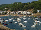 View across Bay to Village and Beach, Tamariu, Costa Brava, Gerona, Cataluna, Spain, Mediterranean Photographic Print by Tomlinson Ruth