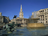 Trafalgar Square, Including St. Martin in the Fields, London, England, UK Photographic Print by Rainford Roy