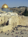 Western Wall and Dome of the Rock, Old City, Jerusalem, Israel, Middle East Photographic Print by Simanor Eitan