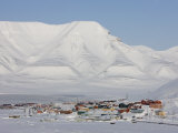 Longyearbyen, Svalbard, Spitzbergen, Arctic, Norway, Scandinavia, Europe Photographic Print by Milse Thorsten