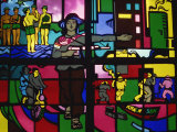 Stained Glass in the Army Museum in Hanoi, North Vietnam, Indochina, Southeast Asia Photographic Print by Traverso Doug