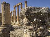 Close Up of Column Capital, Cardo Maximus, Jerash, Jordan, Middle East Photographic Print by Simanor Eitan