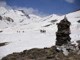 Summit of the Baralacha Pass at 5100M on Leh to Manali Road, Himachal Pradesh State, India Photographic Print by Pate Jenny