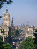 Princes Street Including the Waverley Hotel Clock Tower, Edinburgh, Lothian, Scotland, UK Photographic Print by Richardson Rolf