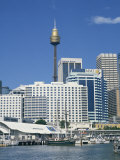 Waterfront and Dockside City Skyline Including the Amp Tower, Sydney, New South Wales, Australia Photographic Print by Wilson Ken